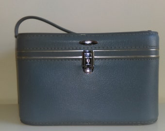 Vintage Light Blue Sears Train Case
