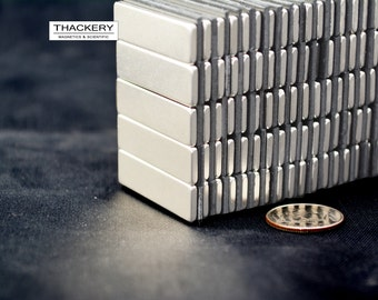 30mm x 9mm x 2mm rectangles / squares - 25  /  50 / 100 / 250 pcs SUPER STRONG MAGNETS - N42 Neodymium - rare Earth (C4)