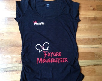 Future Mousekeeteer Glitter Maternity T-Shirt
