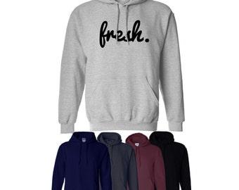 Fresh Hoodie Printed Hood Tumblr Gift Mens Womens UK Ships Worldwide S-XXL