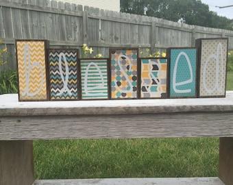Home Decor Wood Blocks - Blessed - {Blessings}