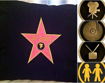 Hollywood Star Walk of Fame Cushion Cover -Choose Film TV Music Man or Lady Icon