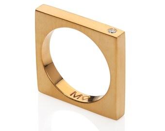 Wedding band, Wedding ring, Wedding bands women, Diamond wedding band, Stacking ring, Gold diamond ring, Geometric ring, Gold ring
