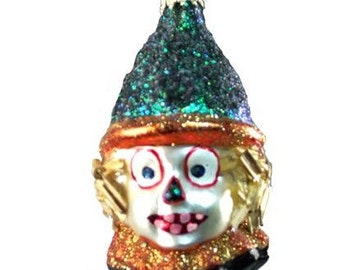 Halloween ornaments clown scarecrow