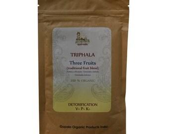 Triphala Powder (USDA Certified Organic) - Gopala Ayurveda