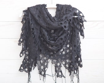 Scarf, Black shawl, Fashion Accessories, Gift Ideas, Many color variations