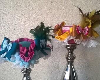 Marie Antoinette Tricorn Mini Top Hat/ Cosplay / Halloween / Rococco / Theme