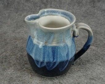 Vintage Blue Stoneware Blue Creamer