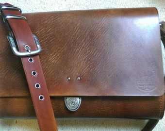 Handmade Leather Messenger Bag #2