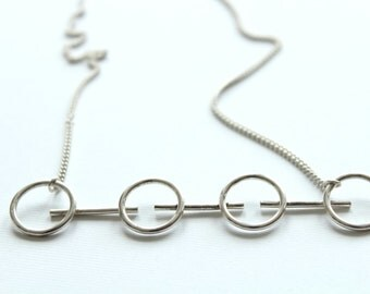 Layering necklace, pendant necklace, unusual necklace, sterling silver necklace, minimal necklace