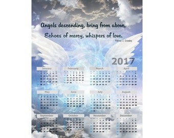 Heavens Angels 2017 Photo Calendar One Page 8 x 10 Instant Download