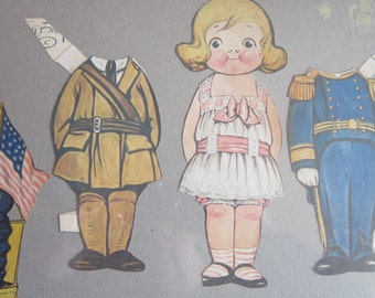 Dolly Dingle, Vintage Paperdoll, Dolly Dingle Paperdoll, Whispers0fYesterYear, Collectable Paperdoll
