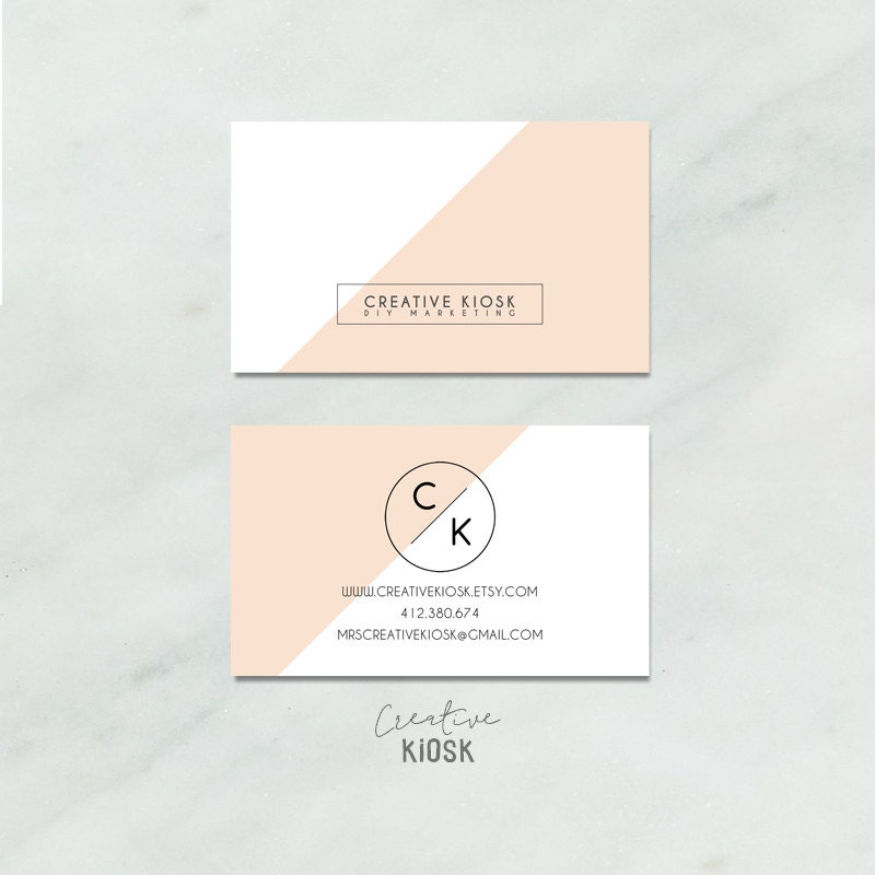 Business Card Template Instant Download DIY Business