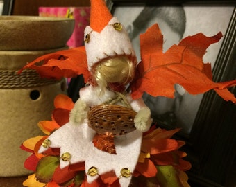 Fall forest fairy