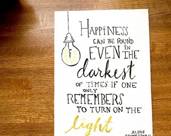 Albus Dumbledore Quote Canvas