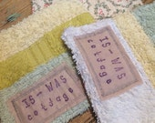 Set of three Reusable scrubbies or wipes