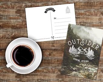 OUTSIDER postcard