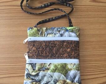 Cross-body bag animal print