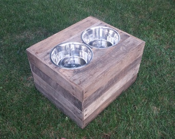Custom Dog Bowl Stand 19 x 16 x 12