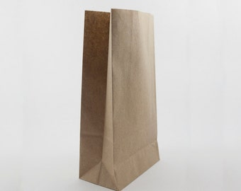 50 bags - 108mm x 208mm x 58mm Small Brown Kraft Paper bags, ideal for weddings, gifts, candy, favour. Eco friendly.