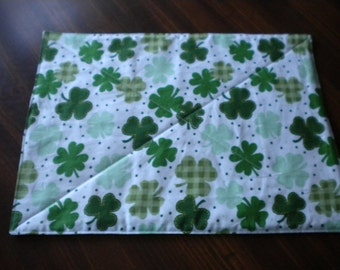 Placemats - Luck of the Irish Quilted & Reversible Placemats (set of 4) - #PS-006
