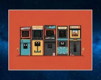 Arcade Machines Pop Art Fridge Magnet. Retro. 80's Memorabilia