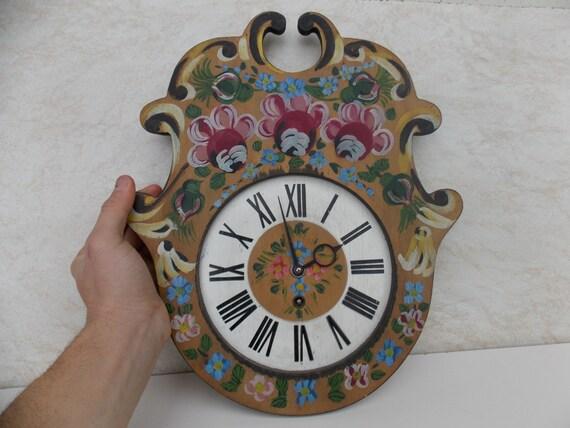 Vintage Saxon Wall Clock / Made In Transylvania / Wall Clock