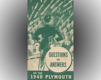 Chrysler Plymouth 1939 Salesmens League Softcover Booklet