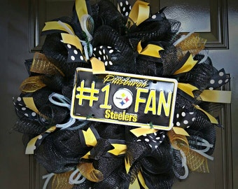 Pittsburgh Steelers Wreath; NFL; Steelers