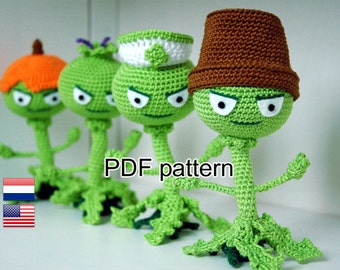 Crochet pattern Weeds (Plants vs Zombies)