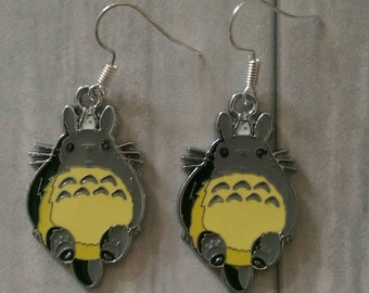 Totoro Earrings, Totoro Jewellery, Kawaii Earrings, Kawaii Jewellery, Japanese Earrings