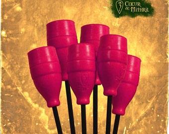 Larp arrows x6 Pink