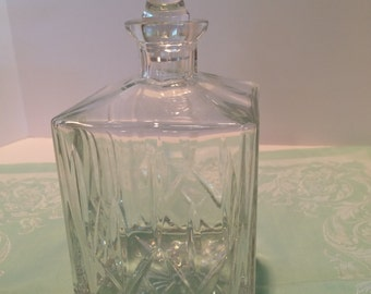 stately crystal decanter