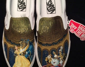 Beauty and the Beast Inspired Vans