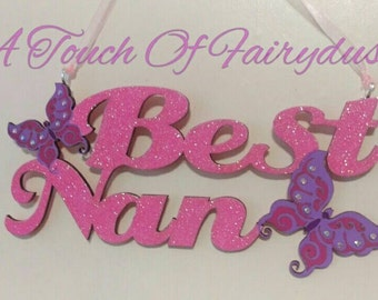 Best Nan butterfly plaque