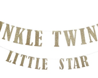 Twinkle Twinkle Little Star Banner, Birthday Banner, Baby Shower Banner
