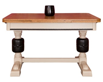 SALE NOW 495.00GBP Coffee & Black Oak Painted Dining Table
