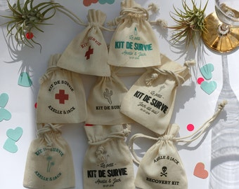 personalized favorbags for wedding bachelorparty birthday company celebrations cotton drawstringbags with printed names messages dates cool