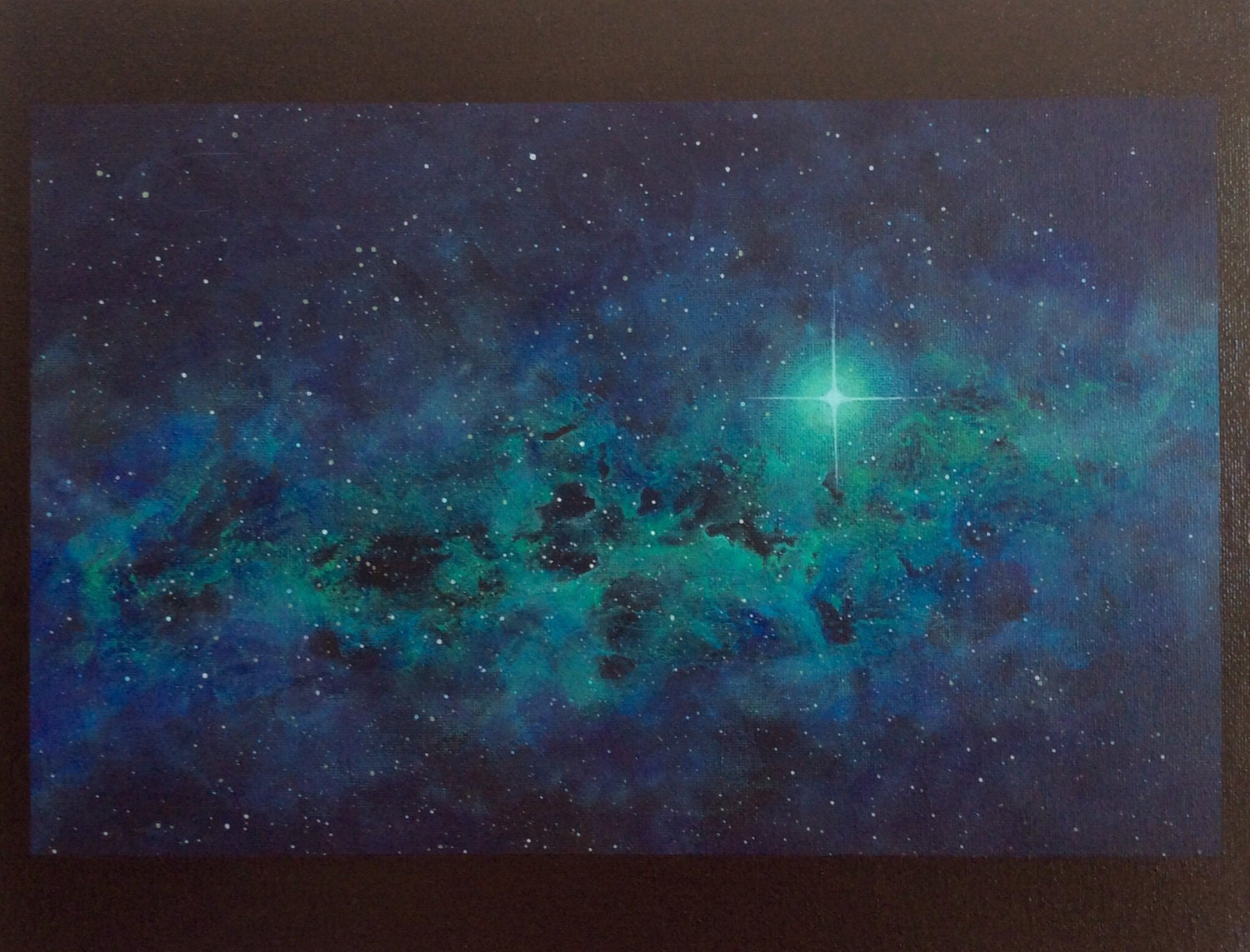 teal space nebula - photo #1