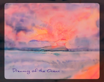 "Watercolor Greeting Cards "" Dreaming of the Ocean"" 5""x7"" Single cards SALE"