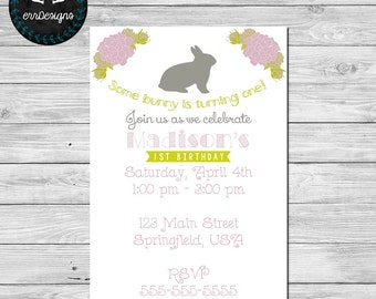 Bunny Party Invitation