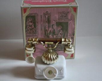 SALE Vintage telephone, Avon French Decanter, Avon Moonwind  Perfume,  Foaming Bath Oil, Telephone decanter, Perfume bottle,  French perfume