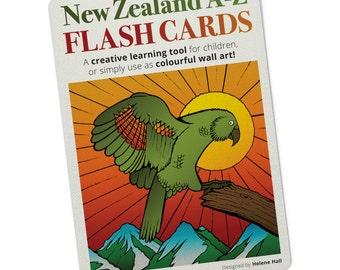 New Zealand A-Z Flashcard set