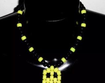 Pacman PLUR kandy Daisy festival necklace