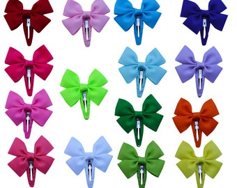 Cute boutique hair bows hair clips Barrettes for girls baby kids teens 15pcs with 15 colors