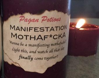 Ritual manifestation candle soy wax pillar