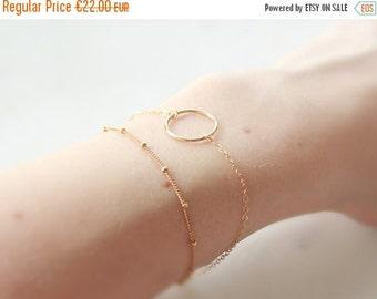 LUCKY   Circle bracelet gold 14 k