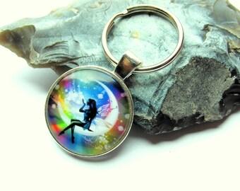 Key chain key ring fairy fairy