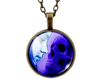 Necklace cabochon necklace skull