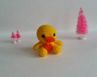 Crochet Mini Duck Plush Preschool Toy